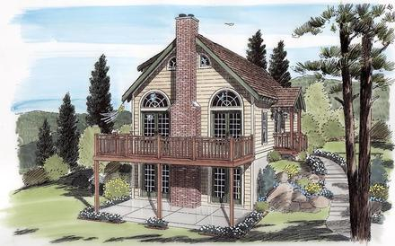 Cabin Cottage Traditional Elevation of Plan 24705