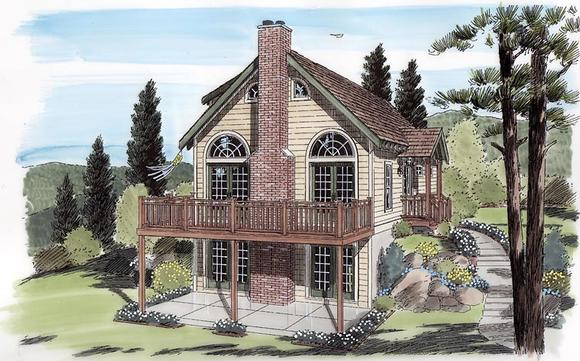 Cabin, Cottage, Traditional House Plan 24705 with 3 Beds, 2 Baths Elevation