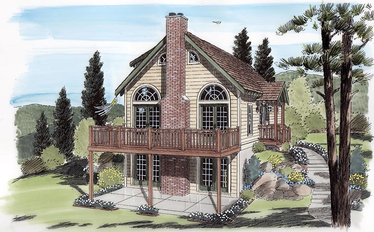 Cabin Cottage Traditional House Plan 24705 Elevation