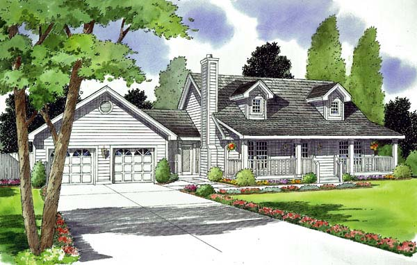 Country Southern House Plan 24711 Elevation