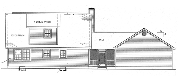 Country Southern House Plan 24711 Rear Elevation