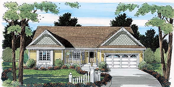 Country Ranch Southern House Plan 24715 Elevation
