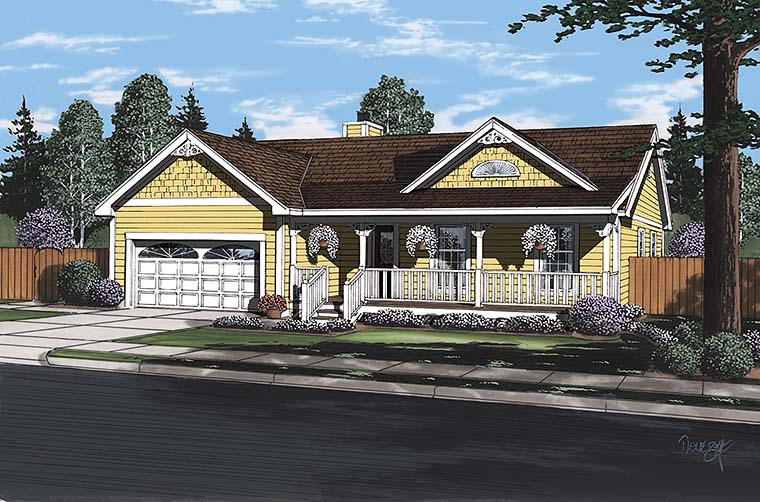 Bungalow Country Southern Traditional House Plan 24721 Elevation