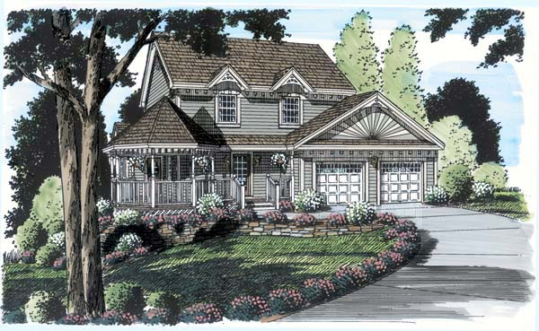 Bungalow Country Victorian House Plan 24722 Elevation