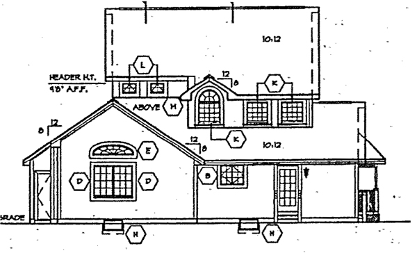 Bungalow Country Victorian House Plan 24722 Rear Elevation
