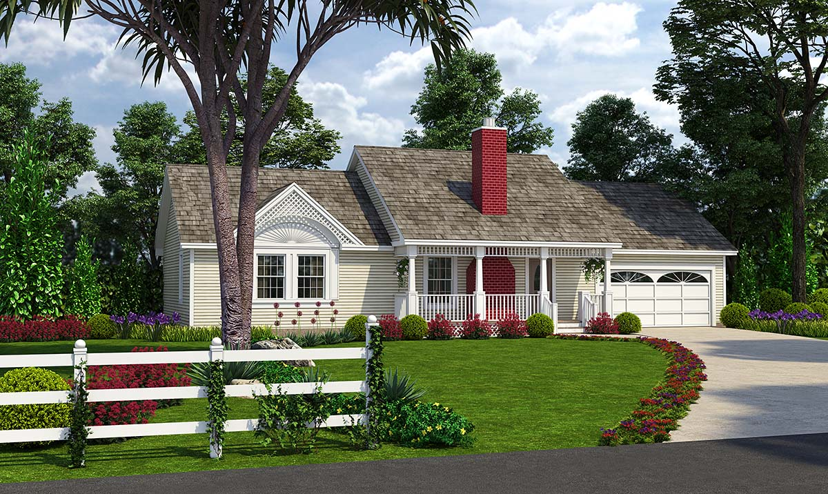 Cottage Country Traditional House Plan 24723 Elevation