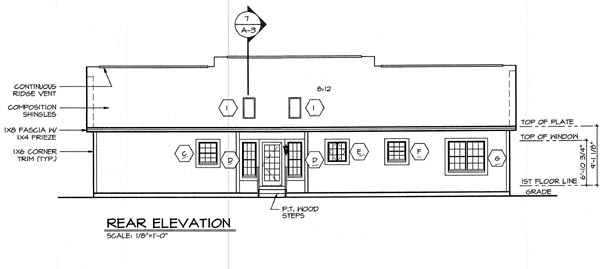 Cottage Country Traditional House Plan 24723 Rear Elevation