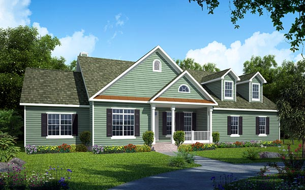 Country Ranch Southern Traditional House Plan 24750 Elevation