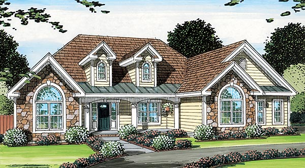 Bungalow Country European Ranch Traditional House Plan 24751 Elevation