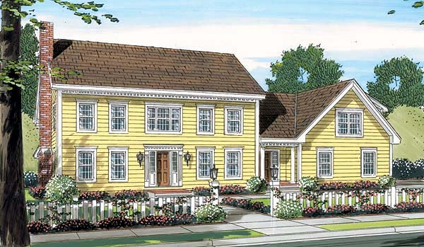 Colonial House Plan 24752 Elevation