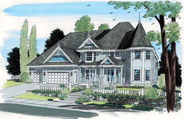 House plan 24800 at One story victorian homes