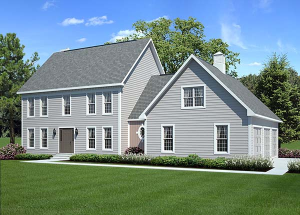 Colonial Country Traditional House Plan 24966 With 2138 Sq Ft 3