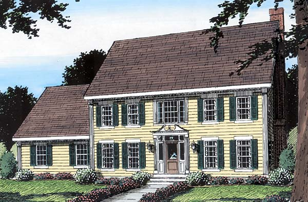 Colonial House Plan 24990 Elevation