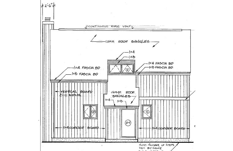 Contemporary House Plan 26112 Rear Elevation