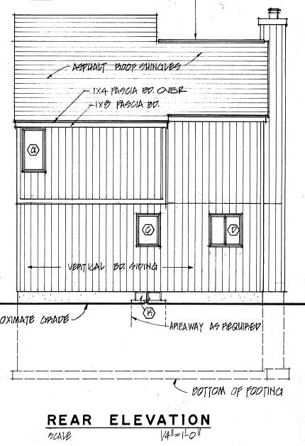 Contemporary House Plan 26114 Rear Elevation
