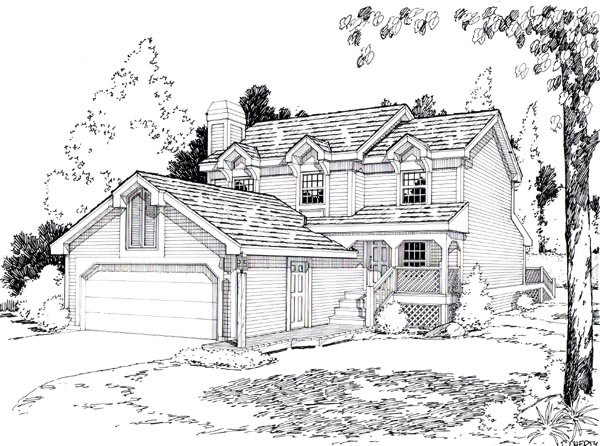 Country House Plan 26743 Elevation
