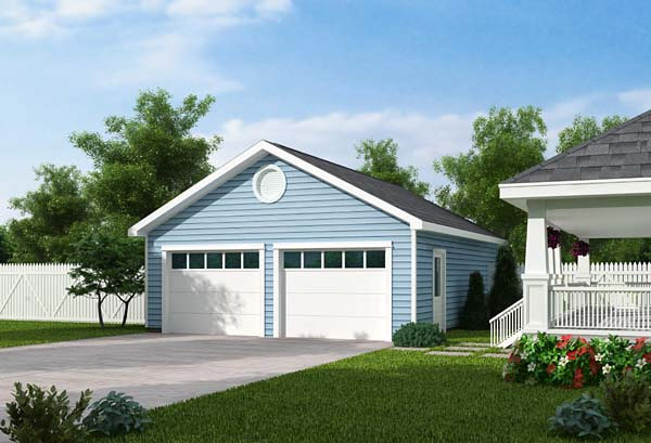 Traditional Style 2 Car Garage Plan Number 30000