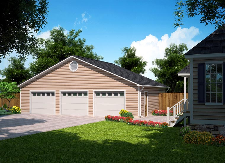 Garage plan 30004 at Triple car garage house plans