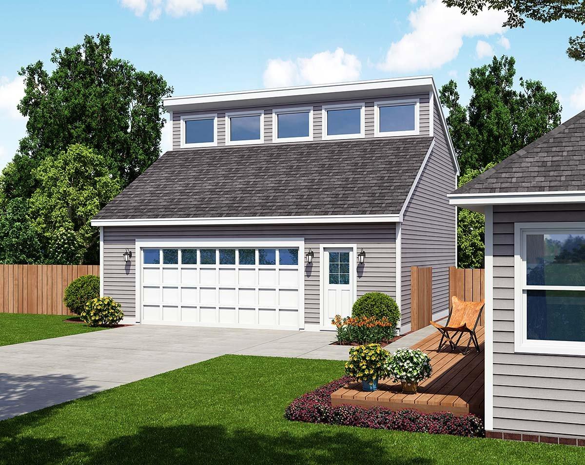 Contemporary 2 Car Garage Plan 30010 Elevation