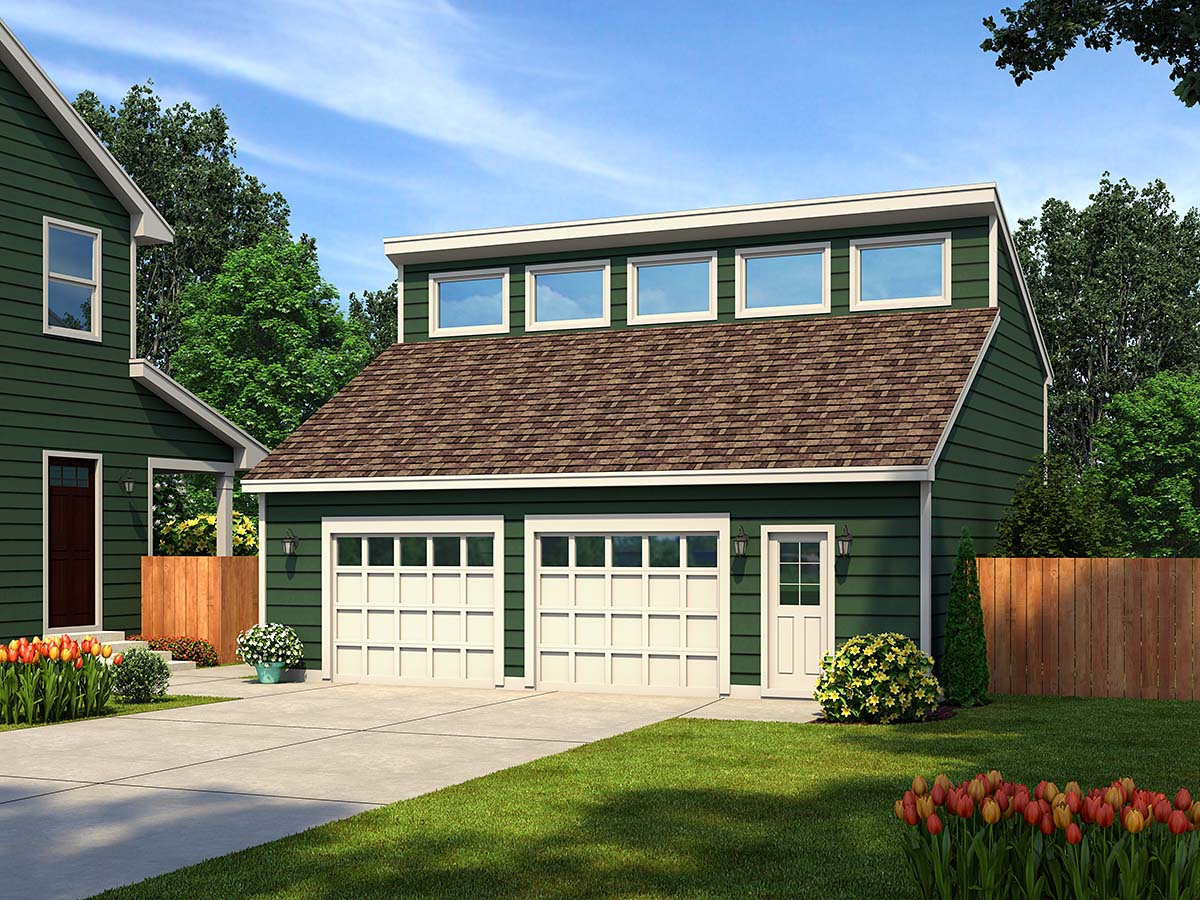 Elevation of Contemporary   Garage Plan 30011