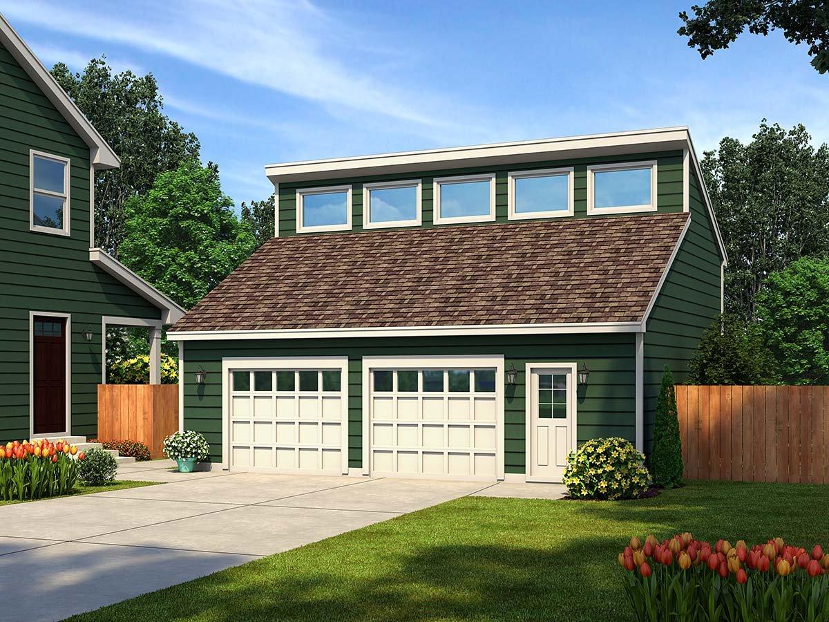 Contemporary 2 Car Garage Plan 30011 Elevation