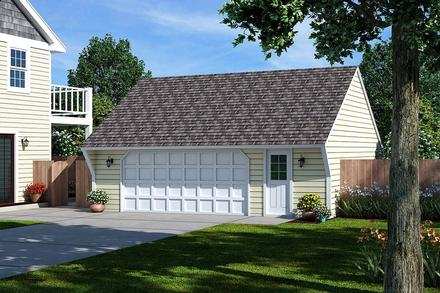 Cape Cod Saltbox Traditional Elevation of Plan 30020