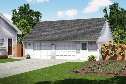 Cape Cod Saltbox Traditional Elevation of Plan 30021