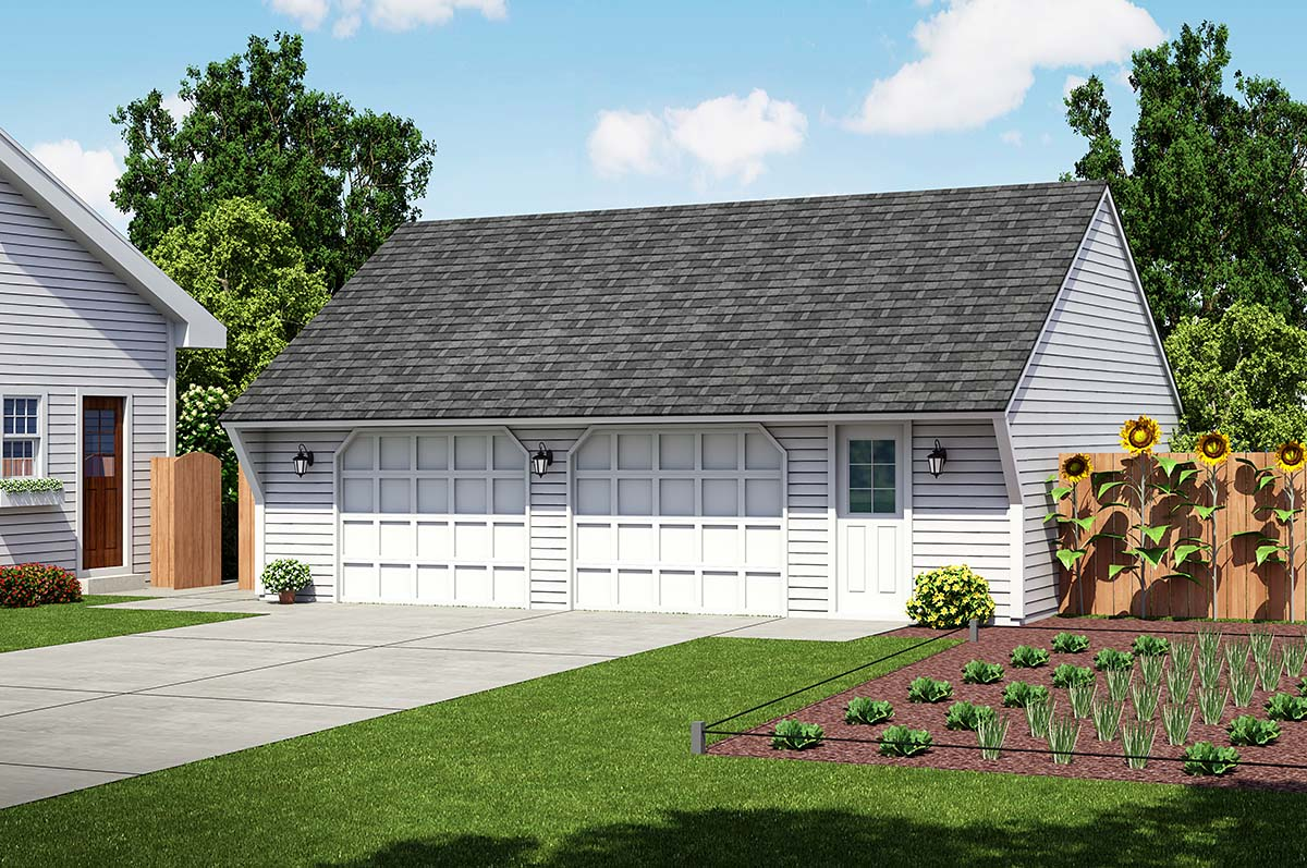 Cape Cod Saltbox Traditional Garage Plan 30021 Elevation