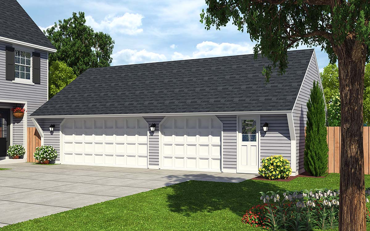 Garage plan 30022 at Saltbox garage plans