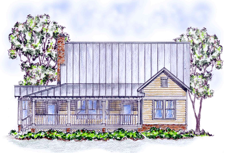 Country Farmhouse Traditional House Plan 30500 Rear Elevation