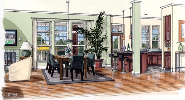 Interior Rendering from Entry