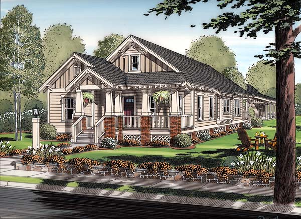 bungalow cottage craftsman house plan 30504 elevation - Craftsman House Plans