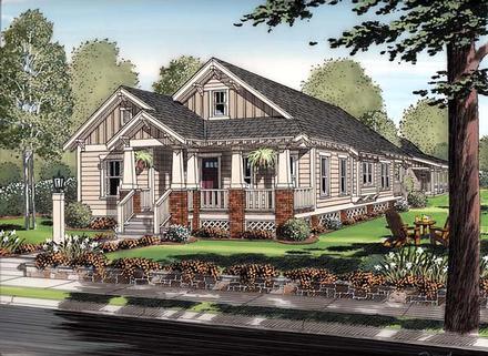 Bungalow Cottage Craftsman Elevation of Plan 30504