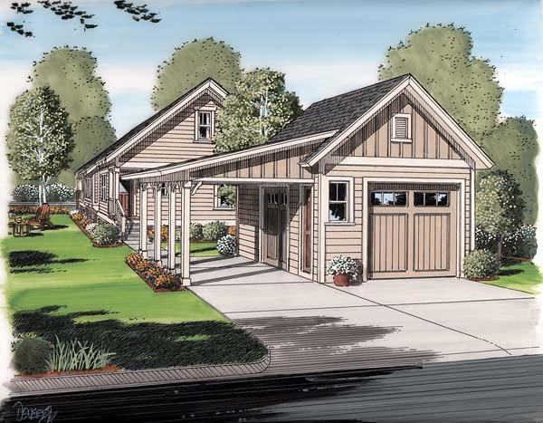 Garage plan 30505 at for Family homeplans com