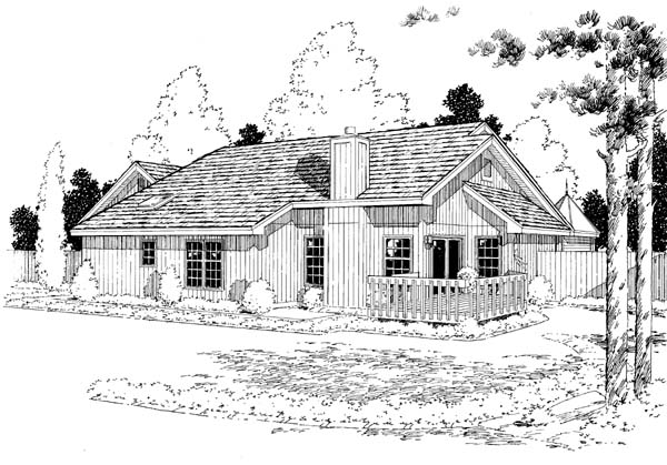 Country Ranch Traditional House Plan 34043 Rear Elevation