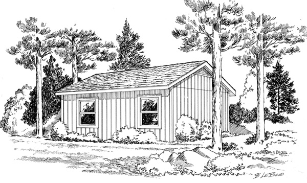 Cabin Cottage Traditional House Plan 34075 Rear Elevation