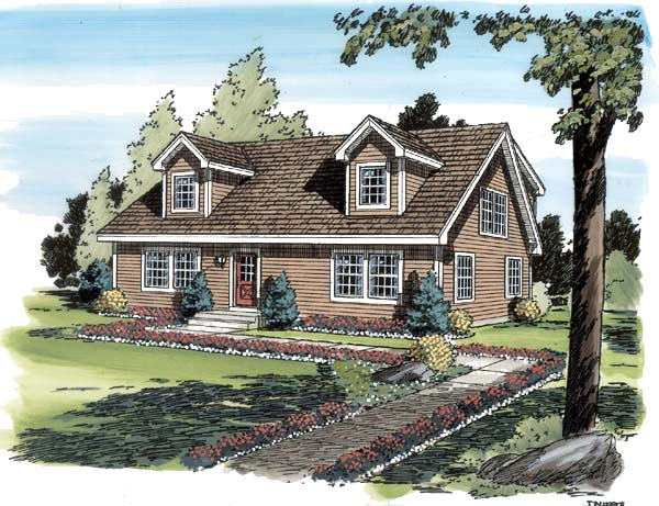 Cape Cod Coastal Country Traditional House Plan 34077 Elevation
