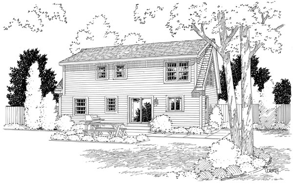 Cape Cod Coastal Country Traditional House Plan 34077 Rear Elevation
