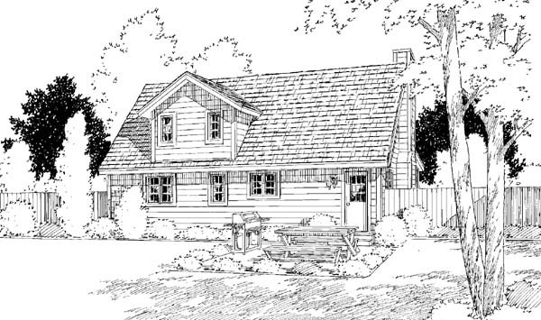 Country House Plan 34600 Rear Elevation