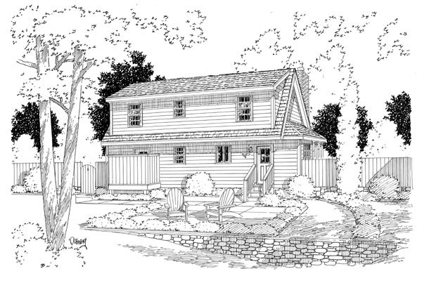 Country Southern House Plan 34602 Rear Elevation