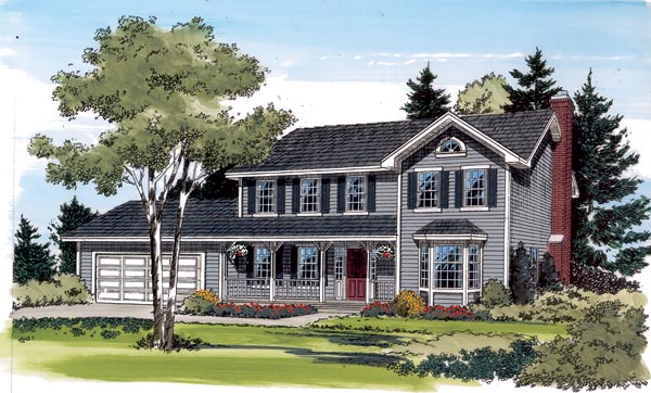 Country Farmhouse Traditional House Plan 34776 Elevation