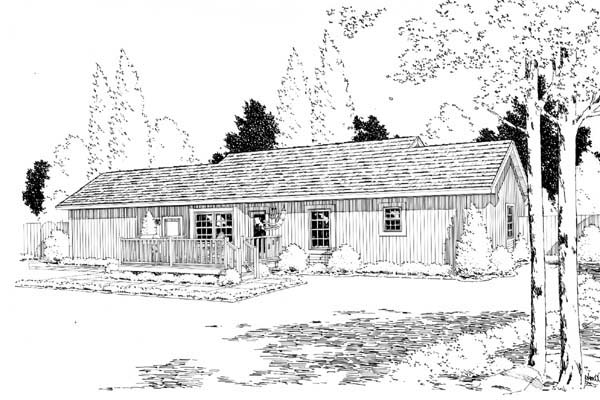 Ranch Traditional House Plan 35000 Rear Elevation