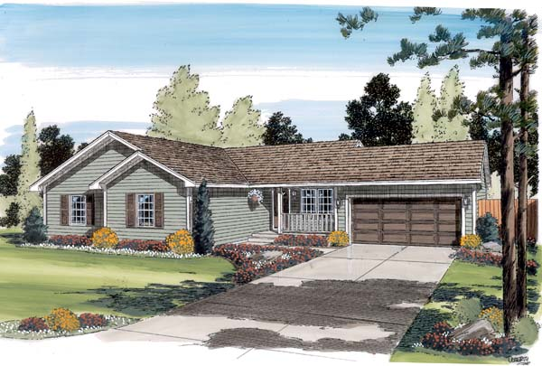 Ranch Traditional House Plan 35005 Elevation