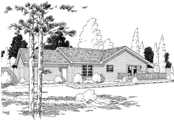 Ranch Traditional House Plan 35005 Rear Elevation