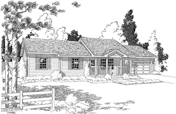 Ranch Traditional House Plan 35006 Elevation