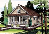 Plan Number 35008 - 1291 Square Feet