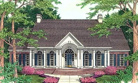 Colonial European House Plan 40001 Elevation