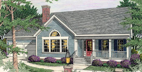 Country Ranch House Plan 40004 Elevation