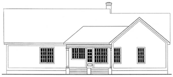 Country Ranch House Plan 40004 Rear Elevation
