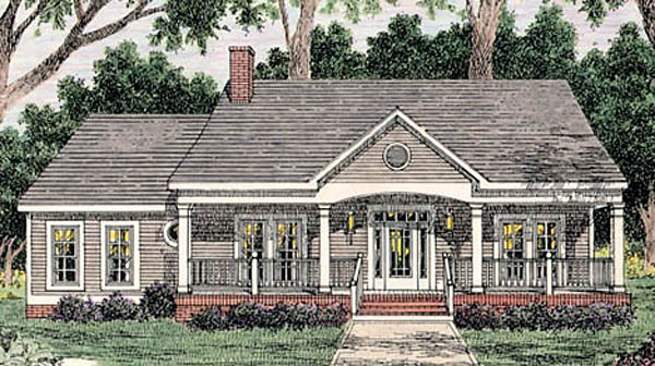 Country House Plan 40005 Elevation